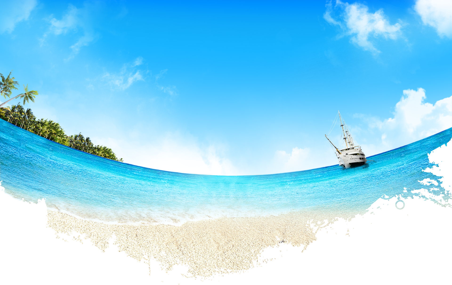 clipart freeuse Ferry shore transprent png. Beach transparent sunny