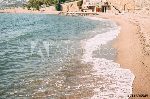 svg transparent library Water of the aegean. Beach transparent warm