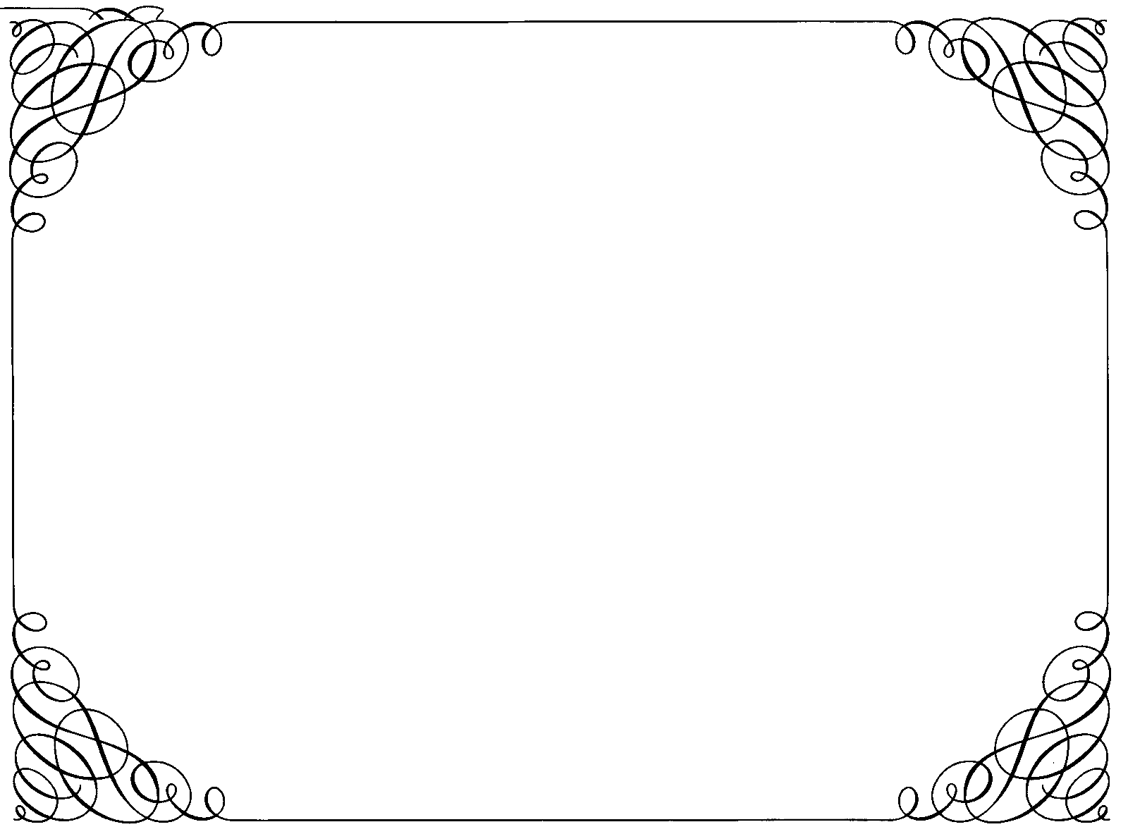 graphic free stock Ornate Curly Border transparent PNG