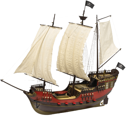 png black and white stock Pirate Ship transparent background