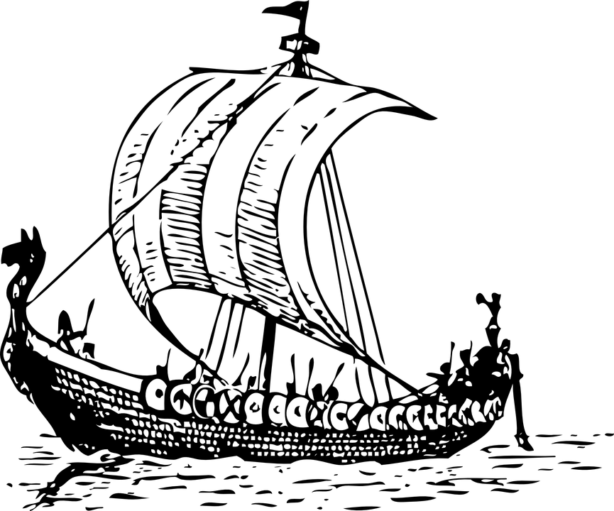 image free library Viking Boat Drawing transparent PNG