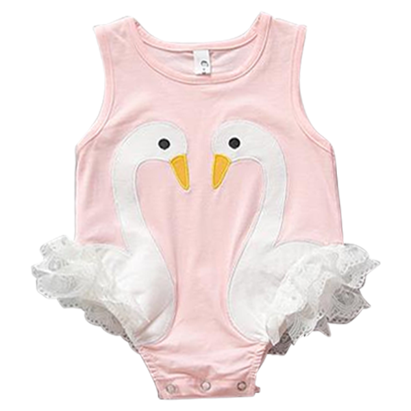 clip transparent stock Swan Pink Playsuit