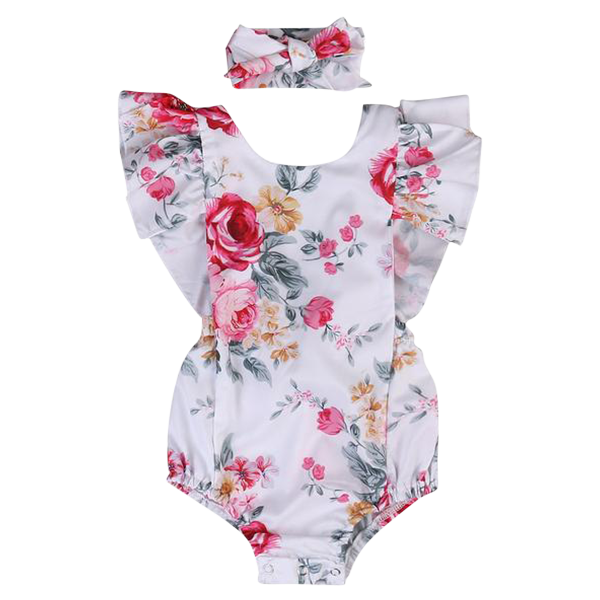 clip art freeuse download Floral Ruffled Backless Romper