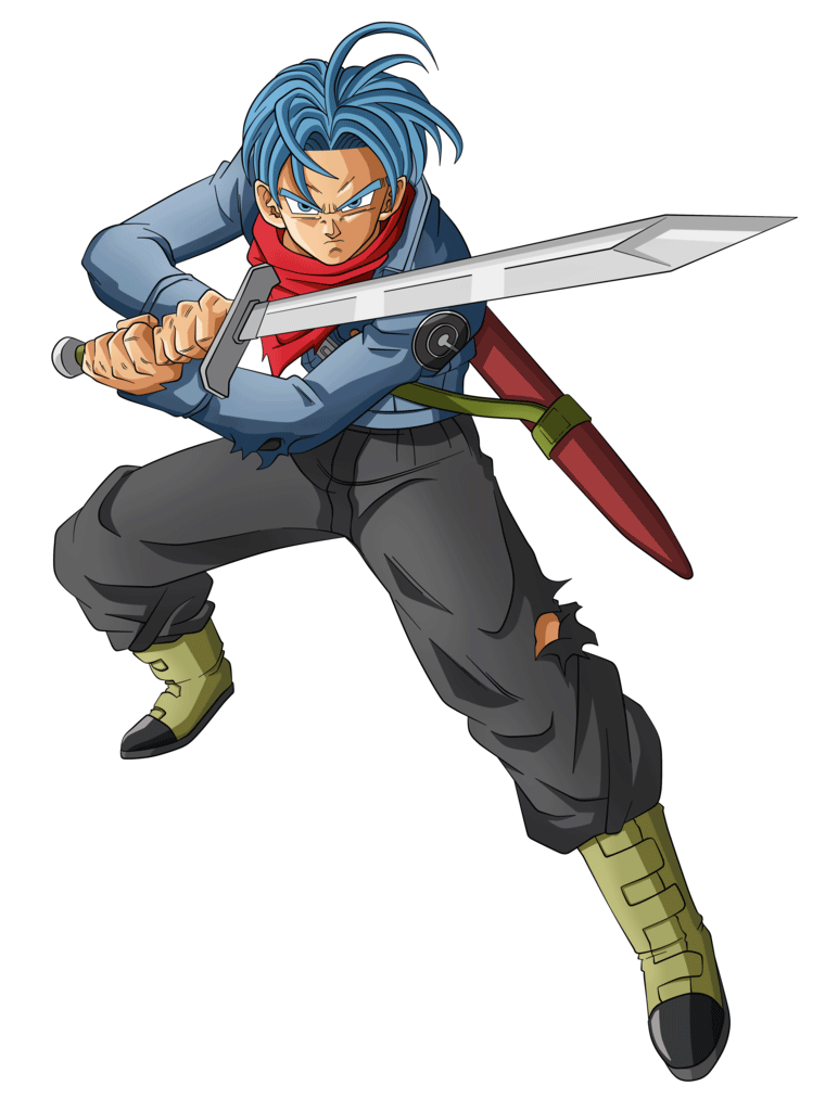 png black and white Future Trunks