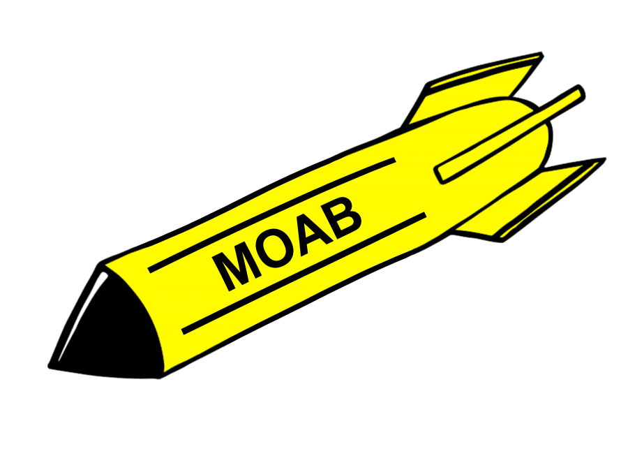 clip art freeuse stock Bombing isis in afghanistan. Transparent bomb moab
