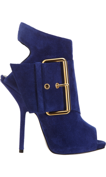 clip download Giuseppe Zanotti Strapped Peep Toe Bootie with Big Buckle