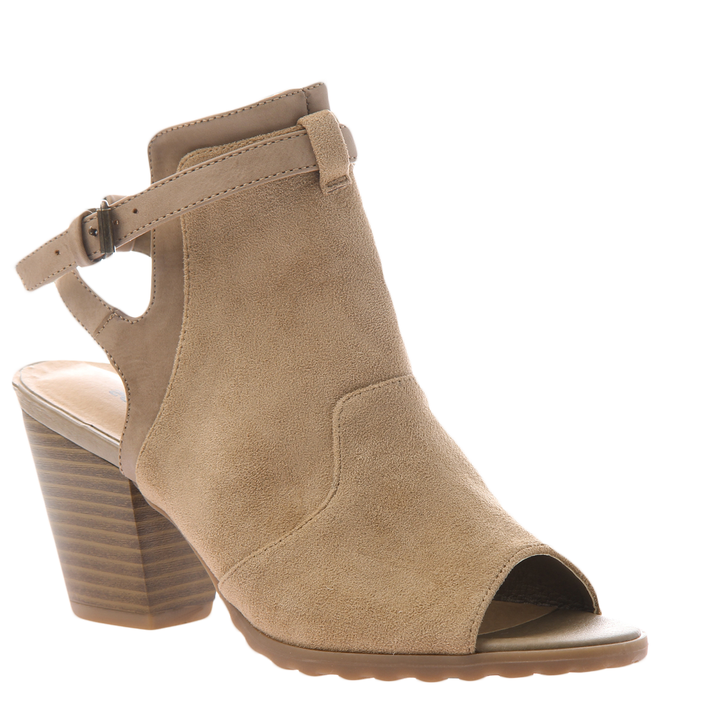 png transparent download Western in New Taupe Open Toe Booties