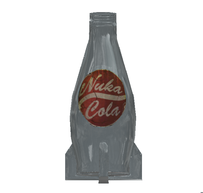free library transparent bottle nuka cola #116558397