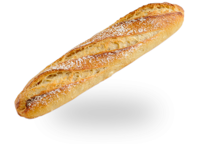 graphic royalty free library Sourdough half cobs. Transparent bread baguette