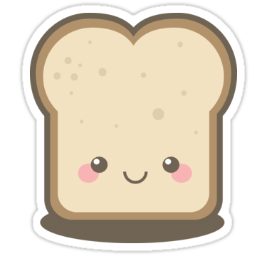 png black and white stock Collection of free Bread transparent cute