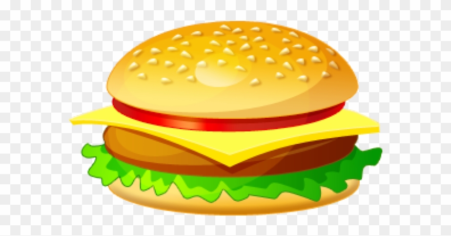 vector royalty free stock Transparent burger. Healthy food clipart clip.