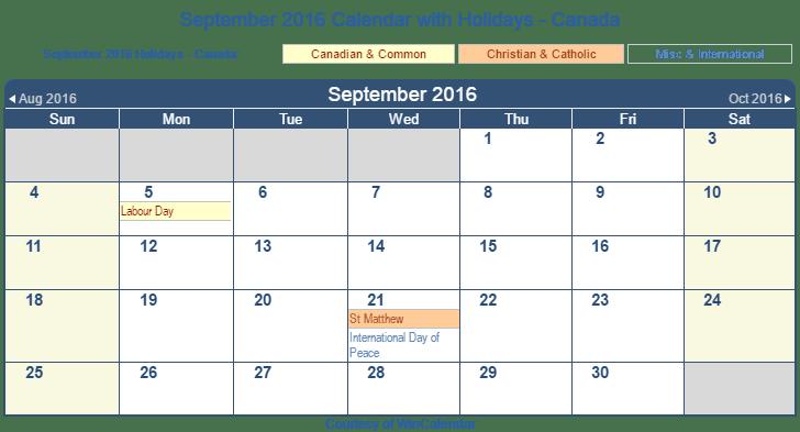 clip stock Transparent calendar september 2016. Print friendly canada for