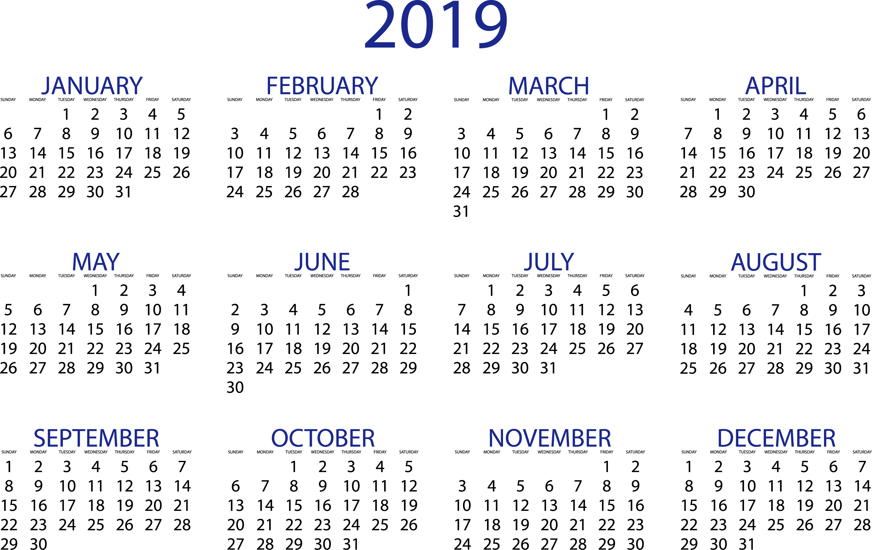 clip art transparent Transparent calendars.  download pdf templates