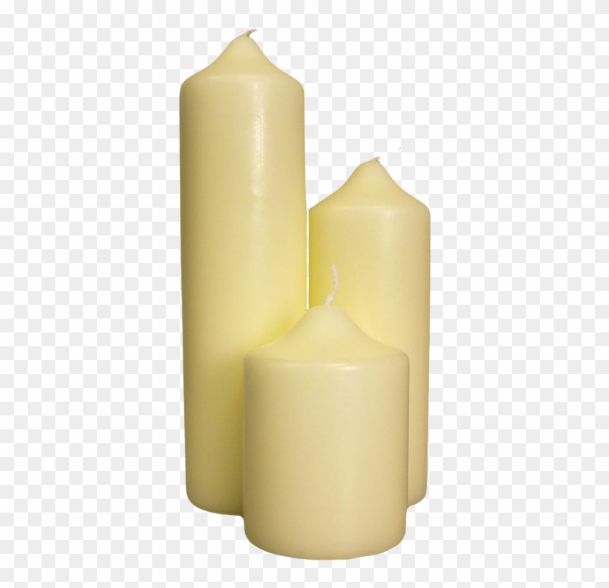 clip free Transparent candle catholic. Melting clipart church candles