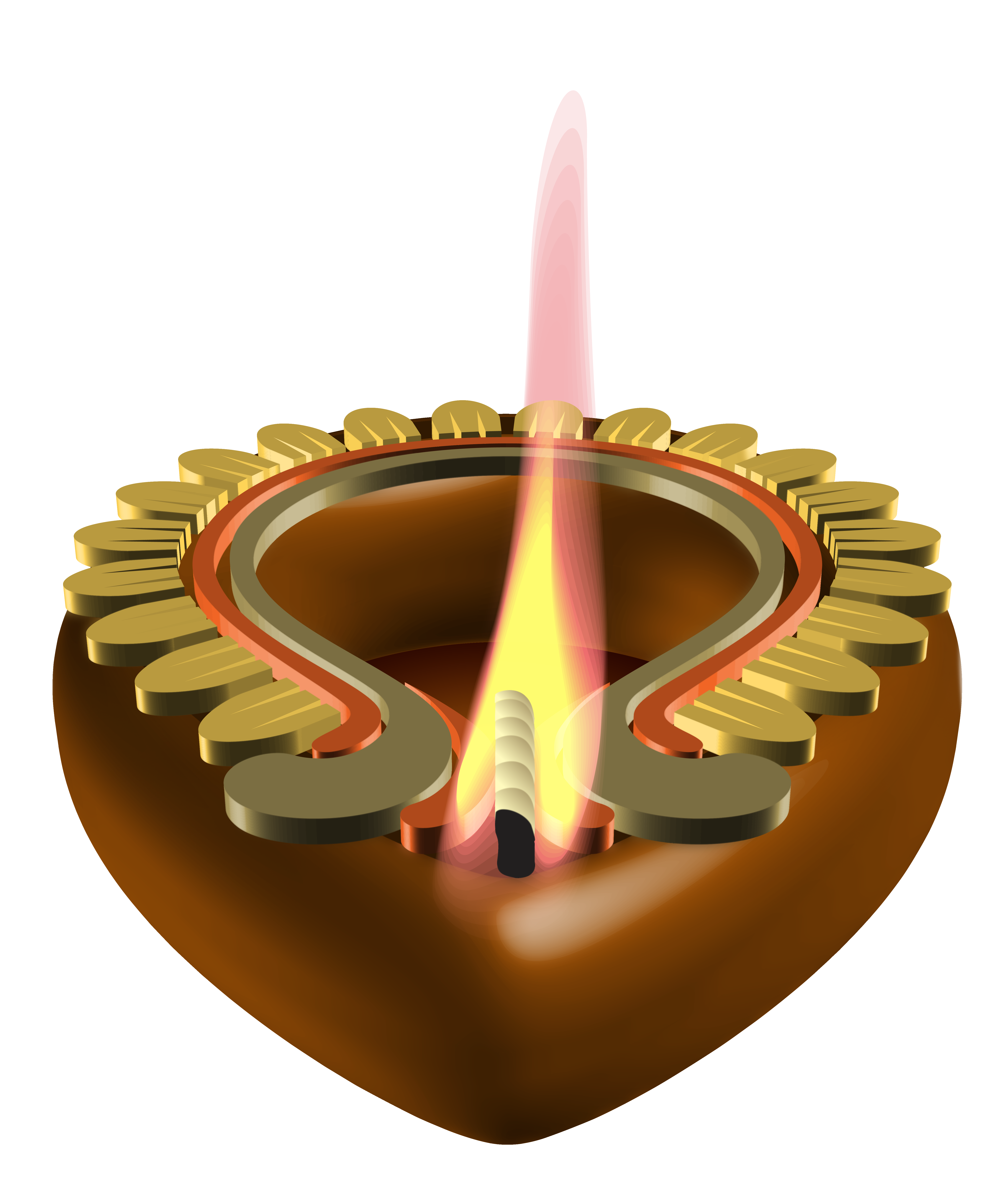 vector freeuse library Transparent candle decorative. Happy diwali png image