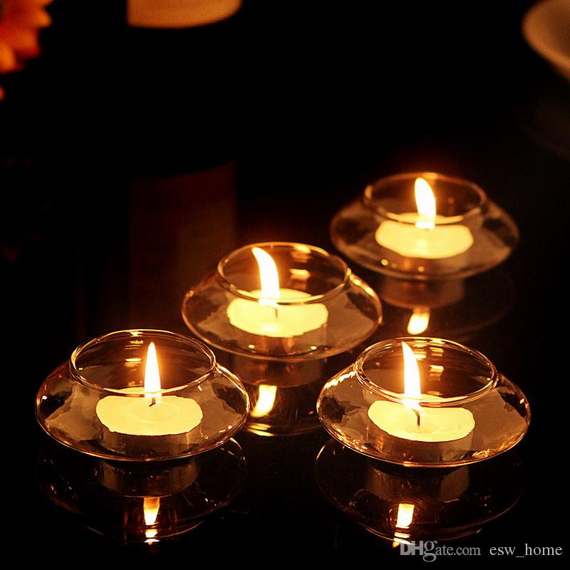 vector free stock Floating glass holder wedding. Transparent candle decorative
