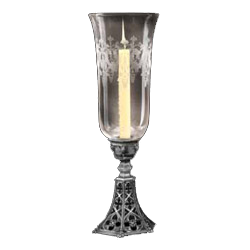banner library library Transparent candle gothic. Medieval holders candlestick stands