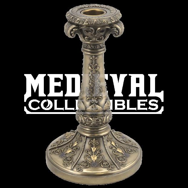 clip art download Baroque leaves holder wu. Transparent candle medieval