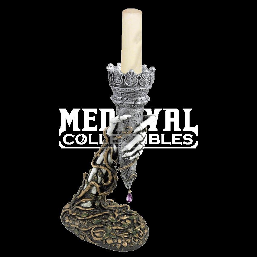 banner royalty free Transparent candle medieval. Light of asrael holder