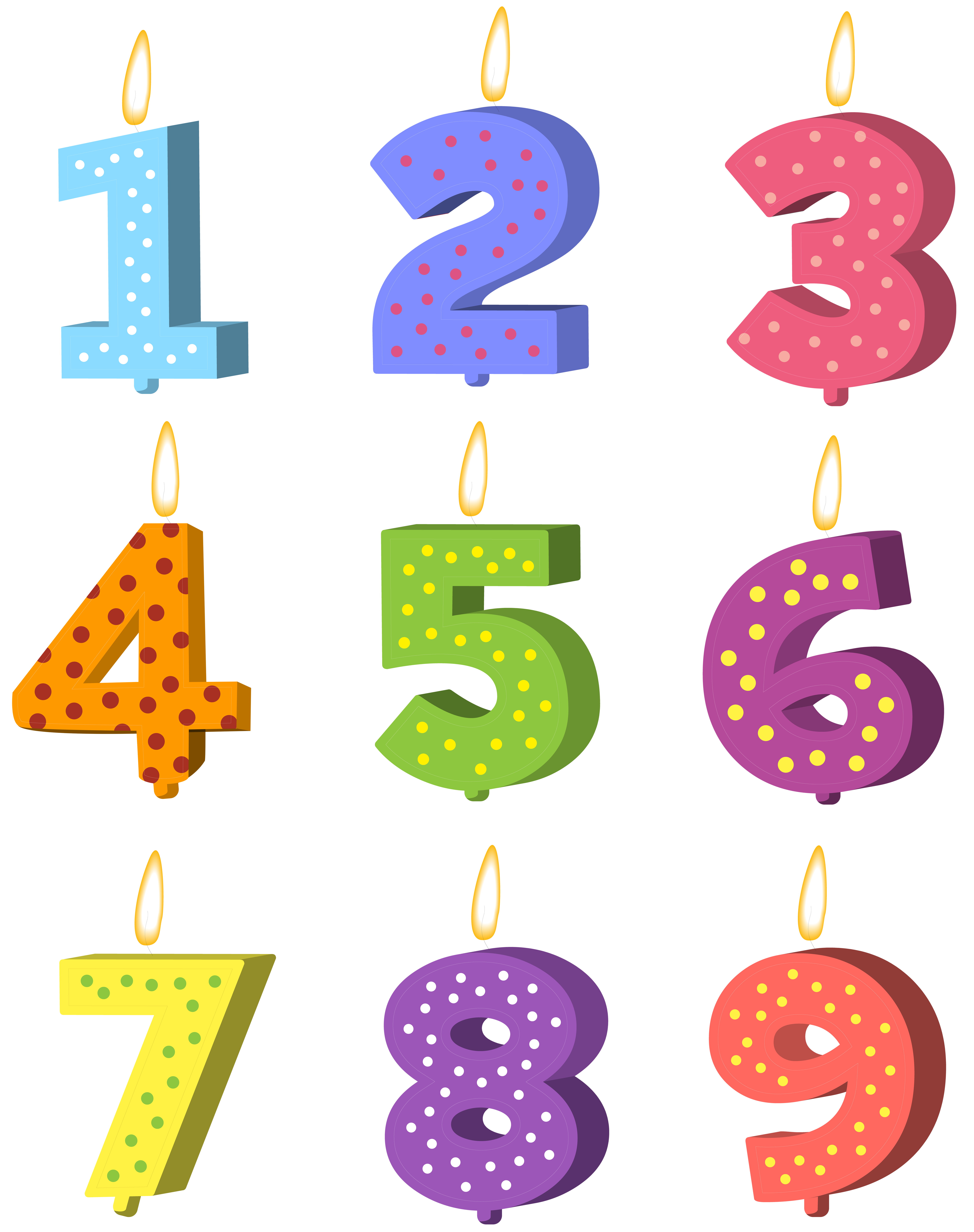 picture free library Transparent candle number.  candles png for
