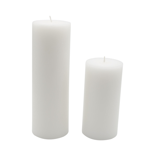 vector black and white Theoni collection . Transparent candle pillar