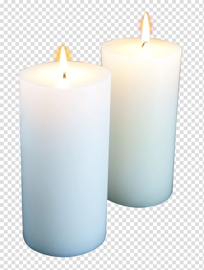 clipart royalty free download Two white candles light. Transparent candle pillar