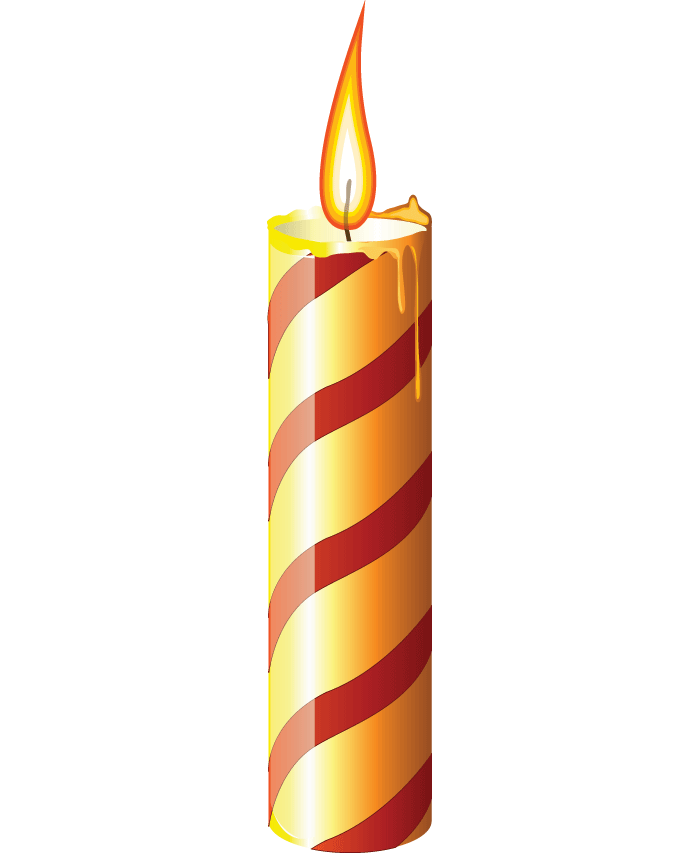 png black and white Transparent candle single. Birthday png image