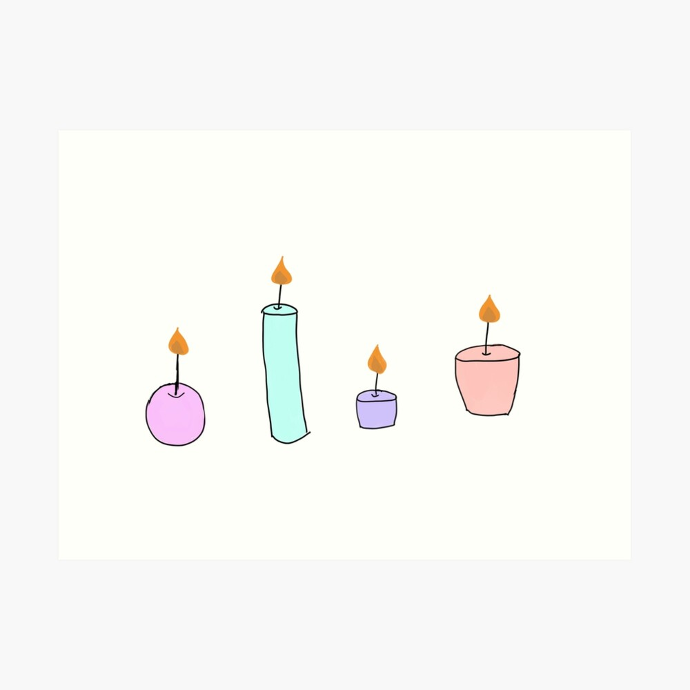 clip art royalty free Transparent candle tumblr. Drawing color art print