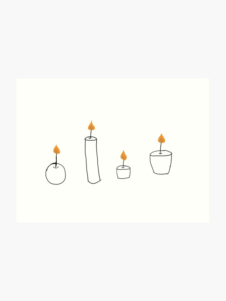 banner black and white stock Drawing art print . Transparent candle tumblr