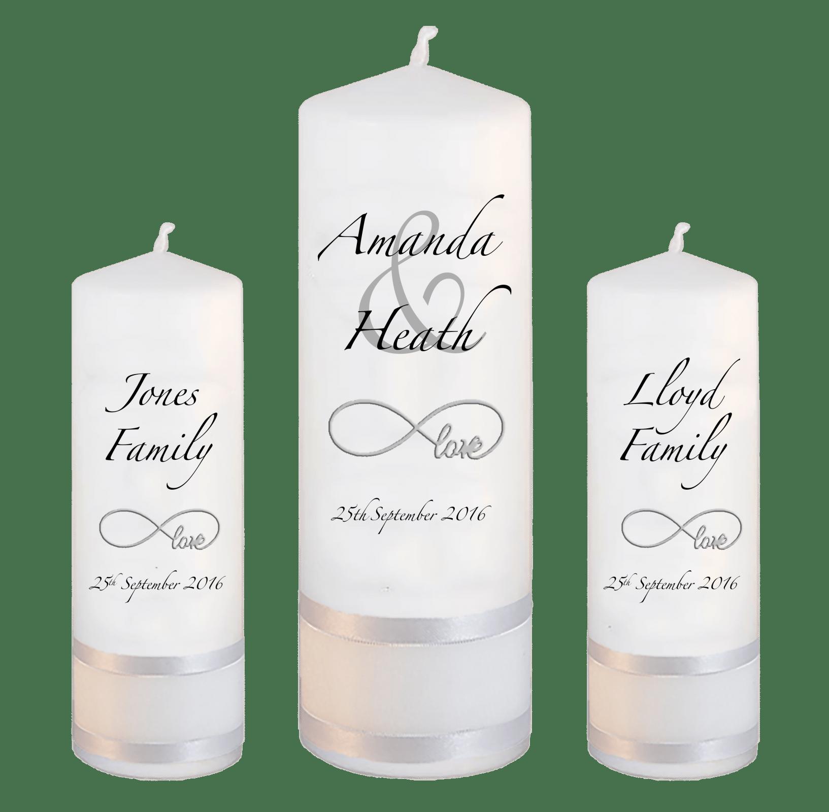 image freeuse Transparent candle wedding. Unity set modern font