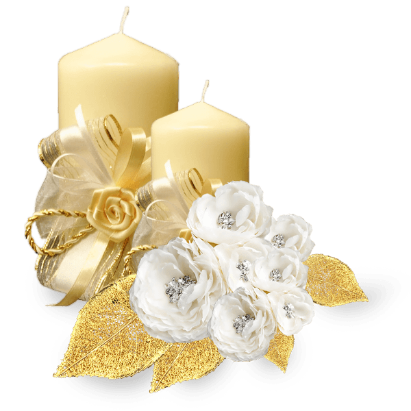 clipart free library Golden png stickpng. Transparent candle wedding