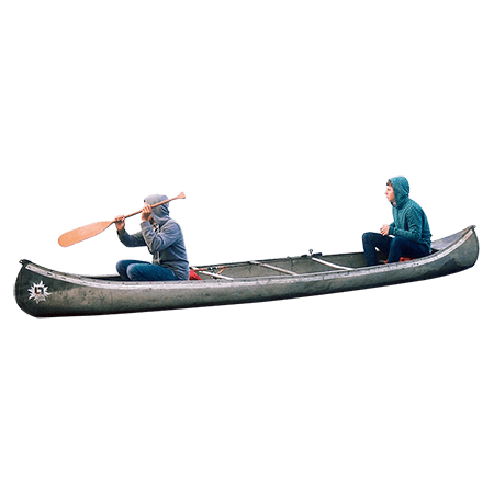 transparent Two People on A Canoe transparent PNG