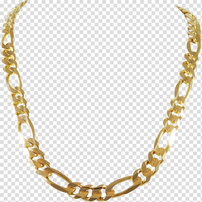 picture royalty free stock Transparent chain. Figaro jewellery necklace gold