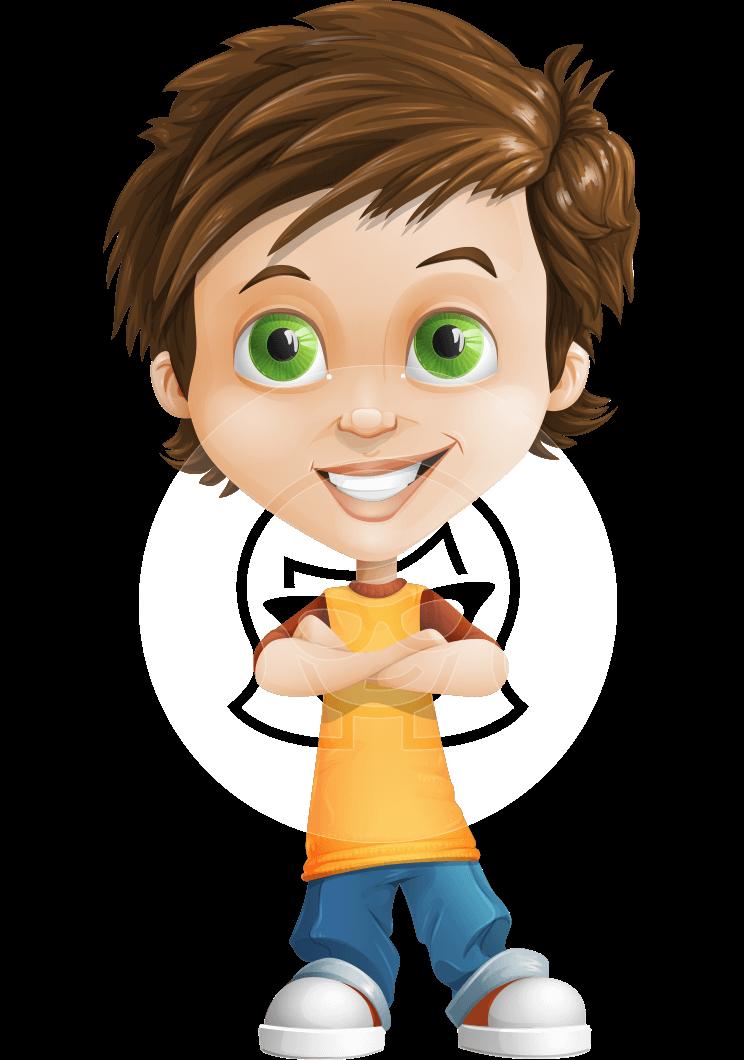 clip art freeuse library Vector cartoons boy. Little cartoon character jamie