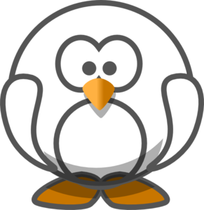 vector royalty free library Transparent clipart. White penguin clip art