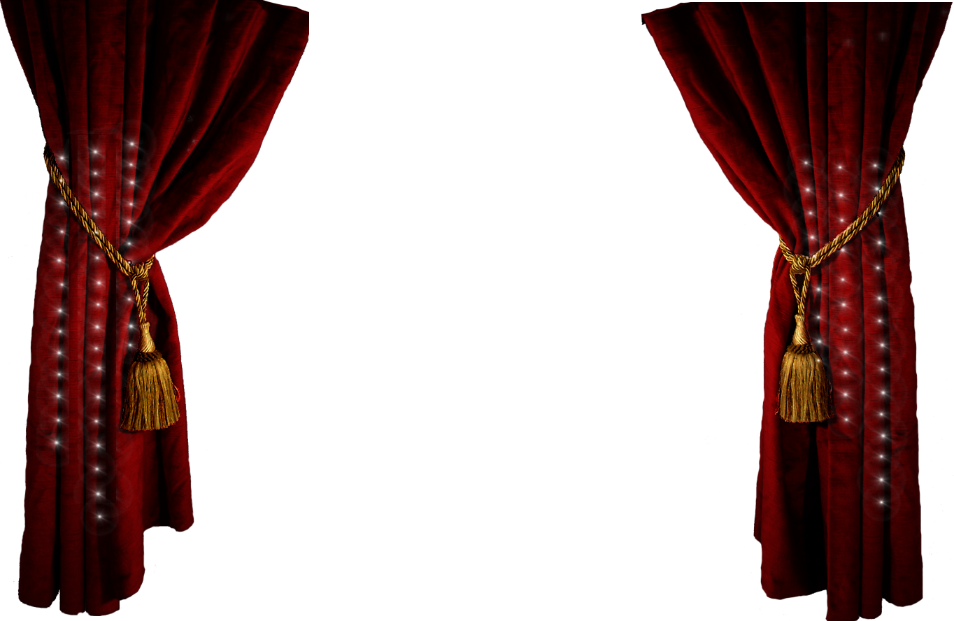 image download Curtain clipart curtain raiser. Red png