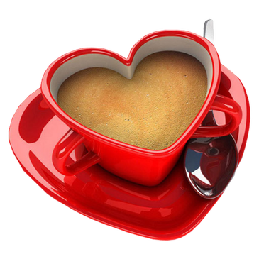 stock Coffee Mug With Heart PNG Transparent Coffee Mug With Heart
