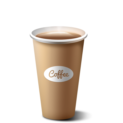 graphic transparent Coffee Paper Cup at Rs