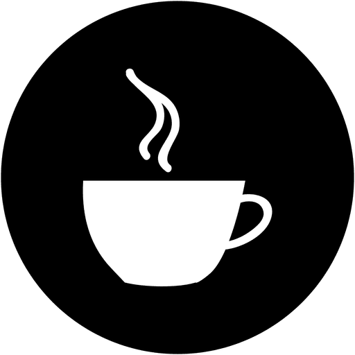 graphic free Vector coffee circle. Round service icon transparent