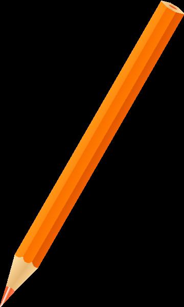 clip art royalty free stock Pencil icon svg public. Vector color orange