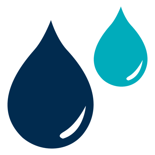 jpg royalty free Blue water drops icon