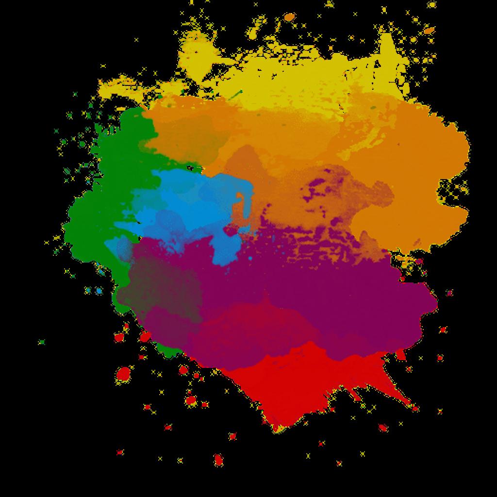 clipart free paint splash colors stroke splatter red orange yellow