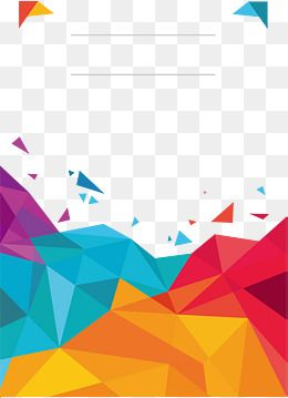 vector freeuse stock Low poster cover png. Vector color polygon.