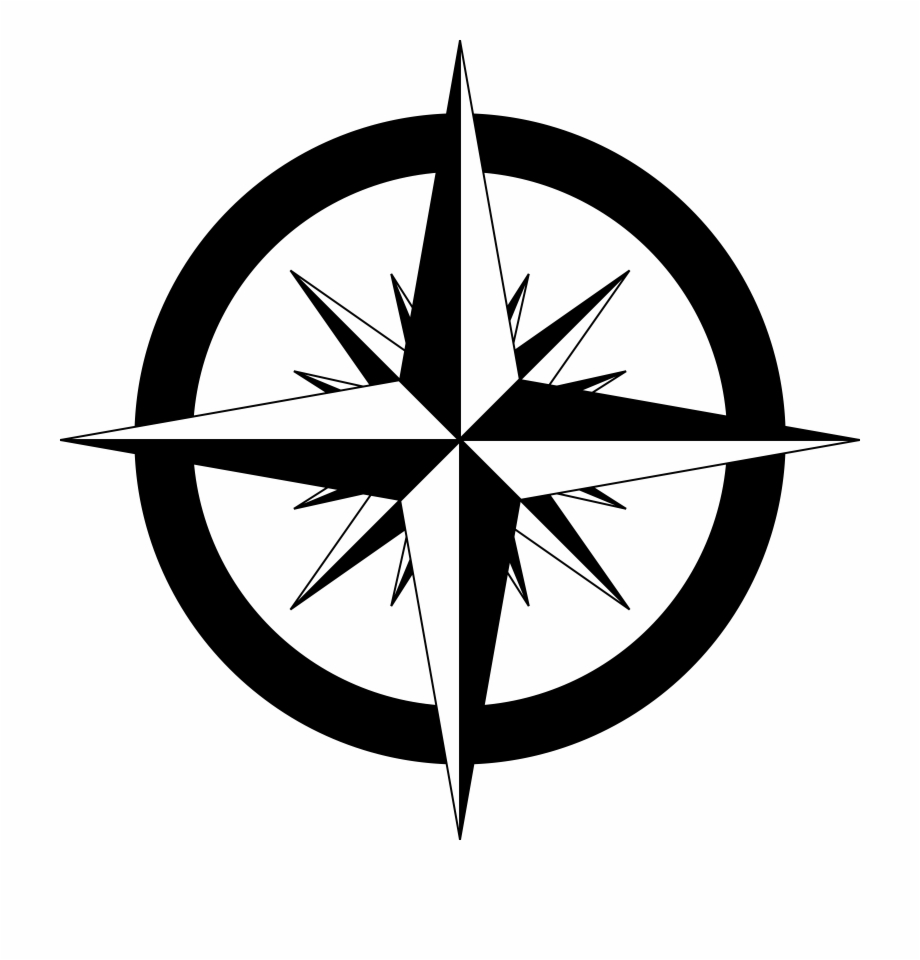 graphic black and white download Compass Rose Png