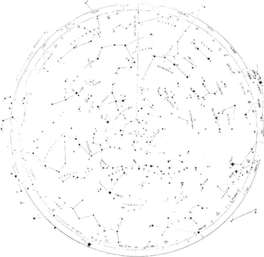 png black and white download  drawing for free. Transparent constellations