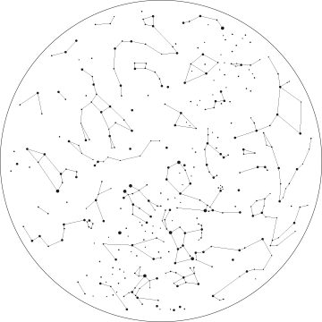 picture royalty free library Transparent constellations. Constellation art