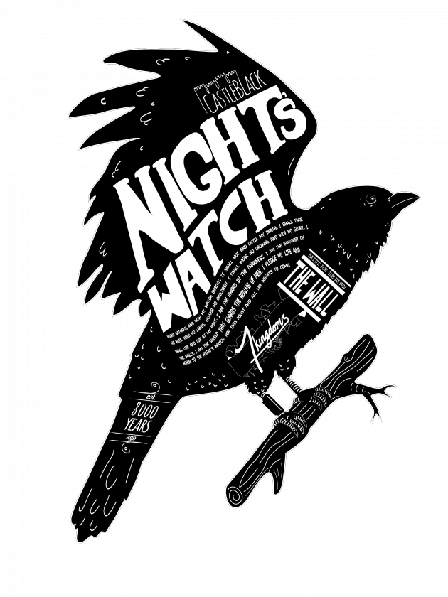 vector freeuse transparent crow night's watch #105511990