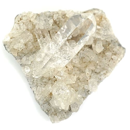 vector library library Clear quartz . Transparent crystal raw form