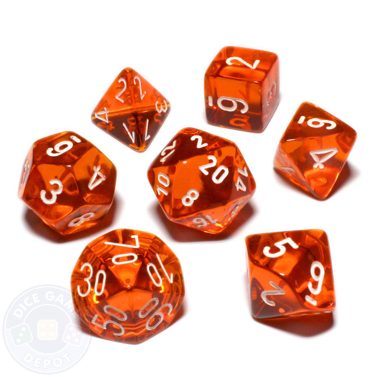 clip royalty free download Transparent dice. Polyhedral set orange .