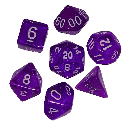 svg library library Transparent dice. Purple speckled polyhedral fate